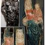 Virgen y el Niño, en madera policromada. Catherine Burgues