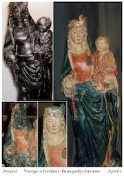 Madonna mit Kind in Holz.