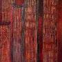 Gratte-Ciel en Fond Rouge. Eve