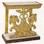 Consola de madera dorada. Galerie Charles Sakr