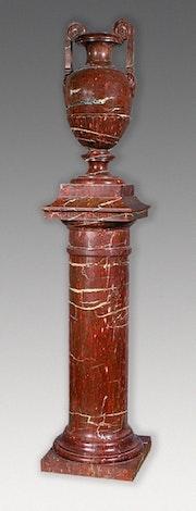 Vase on marble column. Galerie Charles Sakr