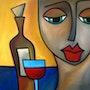 Original abstrakten modernen kubistischen kunst porträt von fidostudio… Verybigart.com. Fidostudio.com