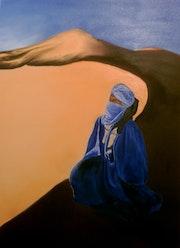 Tuareg in the desert.