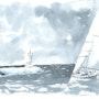Sailboat off port-camargue - 30 - france - 10/06. Bernard Sannier