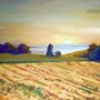 Coucher de soleil vue depuis jongny. Edgar Mabboux