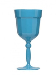 Florentine turquoise red wine glass..