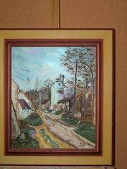 Nachdruck «an der straße duvers-sur-oise» von paul cézanne.