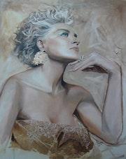 Portrait Of Sharon Stone.