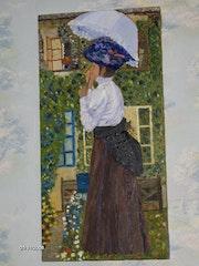 La señora con el paraguas.