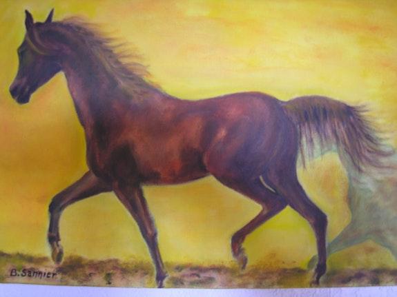 Trotting horse. B. Sannier Bernard Sannier
