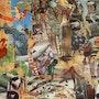 Collage «au repos de la pluie» de jozman. José Evrard