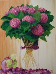 Bouquet d'hortensia.