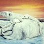 Mamá oso polar en reposo. Bob Patterson On Line Fine Art Galleries
