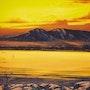 Puesta de sol sobre las montañas de dormir dama. Bob Patterson On Line Fine Art Galleries