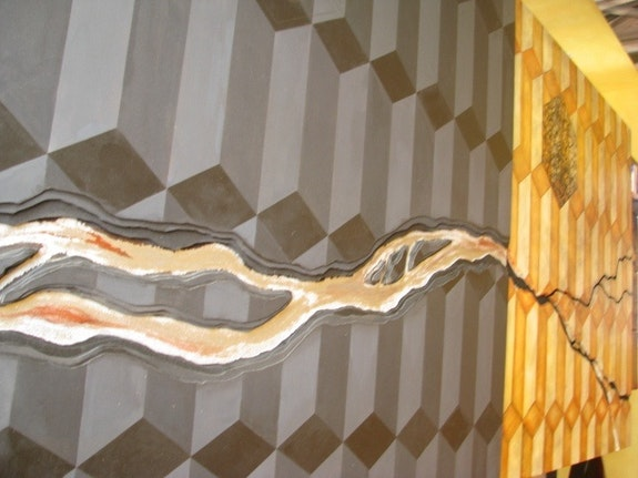 Innovative contemporary abstract river. Mardi A Ahmed