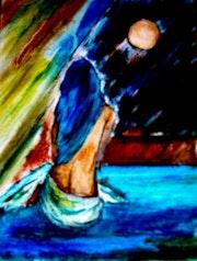 Indifferente Mond, Ölfarbe. Biplobsart. Co. Uk