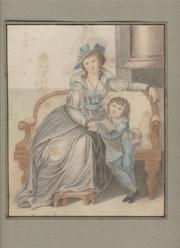 Mujer y niño.