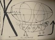 «Ein luftschiff» (un dirigeable). Septembre 1987..