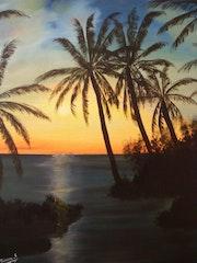 Couché de soleil Antillais.