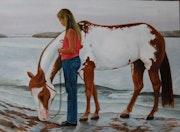 En vous promenant sur la plage. Rafael Del Santo