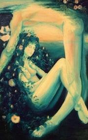Gaea II die Personifikation des Planeten Erde und Uranus am Himmel.. Pamela Claire Phillips