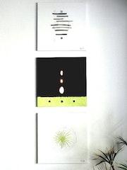 Triptyque moderne Zen-blanc et Schokolade..