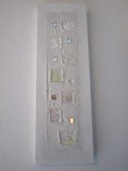 Weiße Leinwand modernen abstrakten Zen.