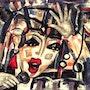 Voice - original painting - Jacqueline_Ditt. Universal Arts Galerie Studio Gmbh