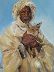 Mujer bereber y fenec.