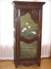 Muebles creó «La musa y la rosa» (detalle). Jerome Dallaire