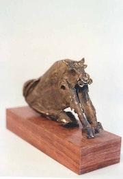 Toro en bronce pieza unica. Luis Gueilburt