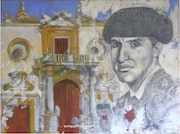 The bullfighter and the square. (Tribute). Enrique Maqueda