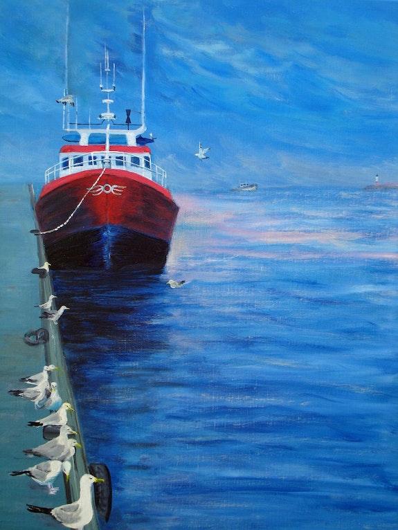 Wharf gulls. Patrice Castillejos Pat
