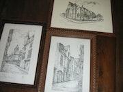 3 Tableaux du Vieux Tours (peut être vendu séparement). Astrid Hogrel