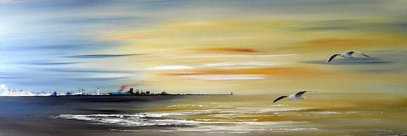 Summer evening at Dunkirk.  Christian Sergent