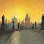 Misty Dawn, Charles Bridge, Prague. Richard Harpum