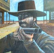 «Cowboy mit Pistole».