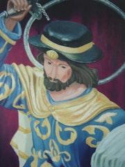 Santiago apostol castilleja de la cuesta sevilla cuadro manuel barranco leon. Manuel Barranco Leon