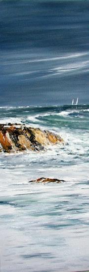 Quiberon tempête sur la côte sauvage.
