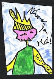 Long live the king Sarkozy! 2609/29.7X20.3cm. . Dominique Cauvé