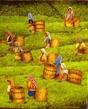 Frauen Tee: Zeit für die Sammlung. Ines De Torres