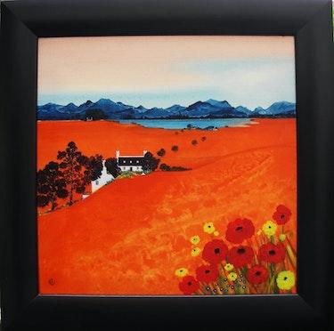 Crofts dans un paysage d'Orange. Hartstop.Com