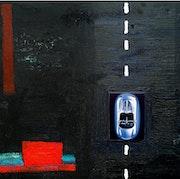 Boys Toys Porsche Original Contemporary Painting. Art24Sevenmedia