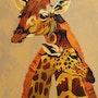 Mother and baby giraffe. Sandra Schneider