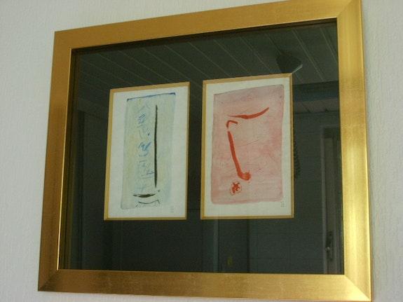 2 Gouache auf Papier Rene Guiette. René Guiette (1893-1976) Claudine De Vuyst