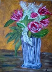 Blumen in Vase. Bernard Sutter