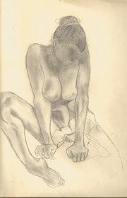 Kleine Skizze einer nackten Kunst. Noémie Hugon