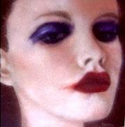 Embrassée (Toile issue de la série «les femmes du monde»).