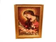 Verkaufe Wandteppich mit der Darstellung der Jungfrau Maria. Orchidee Couture