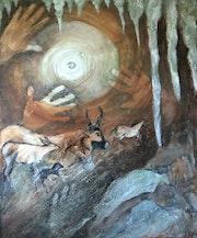 Pearl cuevas y los vestigios y huellas de los hombres prehistóricos. Elfi